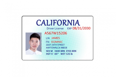 Polycarbonate(PC)ID Driver or Student License card