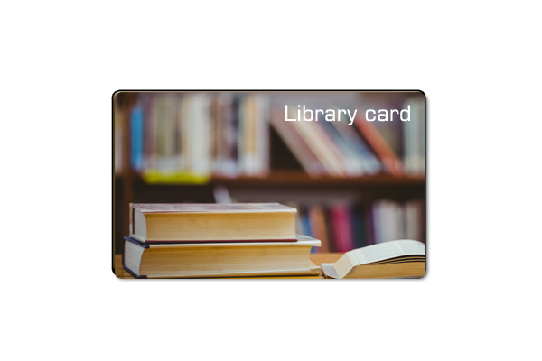 NFC 13.56MHz Plastic Library Borrow card